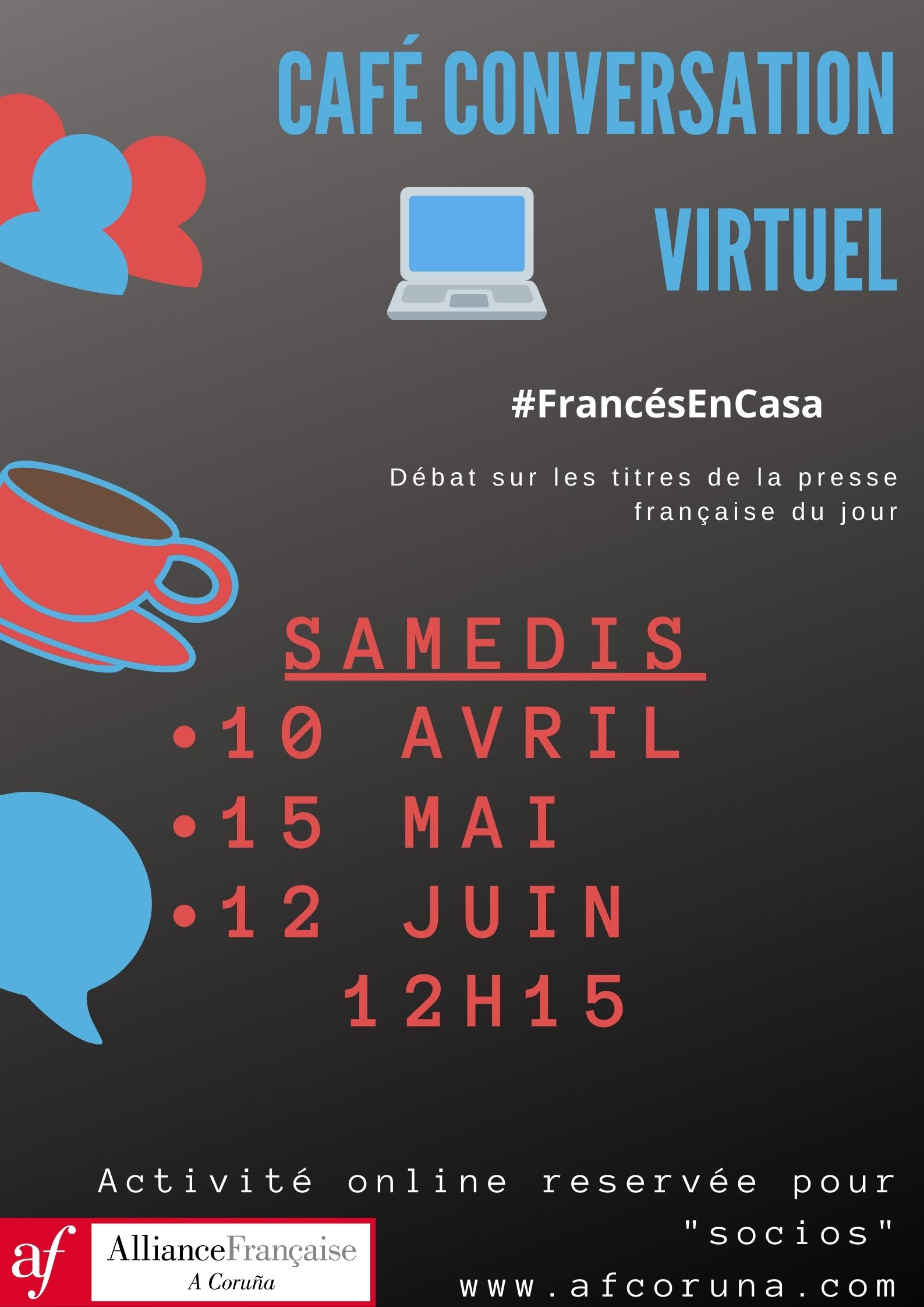 15 mai:  Café conversation virtuel